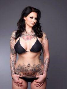 tattooed brunette